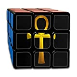 Nicegift Ancient Egyptian Ankh Golden 3x3 Smooth Speed Magic Rubiks...