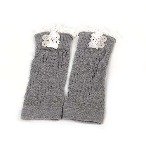 Wenwenzui-DE Komfortable Baby Mädchen häkeln gestrickte Spitze Boot Manschetten Topper Beinwärmer Socken -
