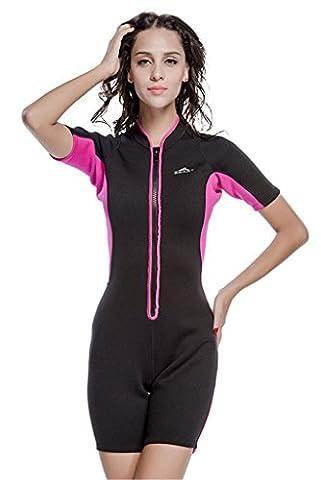 Fortuning's JDS 2MM Neopren UV-Schutz ein Stück Neoprenanzug Tauchen Haut Anzug für Frauen