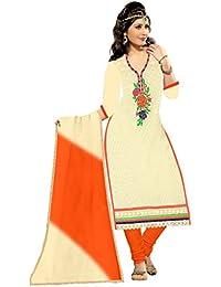 MAHI FASHION Women's Cotton Dress Material (MF16_Free Size_Multi-Coloured)