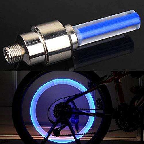 1Pc CyclingLight Nicht mit Batterie-Berg MTB Straße Fahrradbeleuchtung LED Reifen Reifen Ventilkappen Rad spokesFluorescent Licht