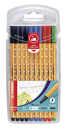 Stabilo  Fineliner  point 88 -  Office - 4 x schwarz, 3 x blau, 2 x rot, 1 x grün
