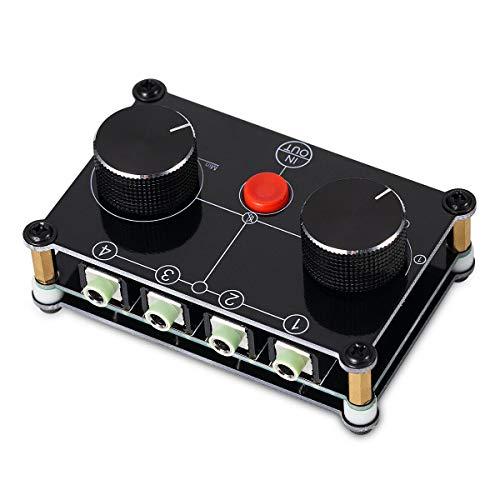 Nobsound 4-In-1-Out-/1-In-4-Out-Audio-Wahlschalter (3,5 mm), Little Bear MC104, manueller Splitter Headset Speaker Switch