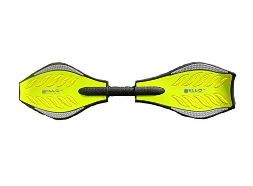 Yellow Ripstik Waveboard Skateboard Vigorboard Street Surfboard Snakeboard Flashing Wheel Max 95kg