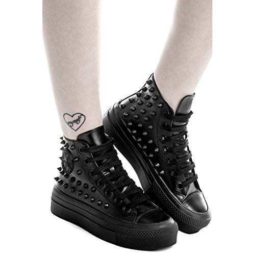 Kill Star Killstar, Sneaker Donna Nero Nero One Size Nero