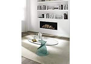 Table basse design FANCY - verre transparent - deco