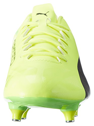 Puma Evospeed 17.4 Sg, Scarpe da Calcio Uomo Giallo (Safety Yellow-puma Black-green Gecko 01)