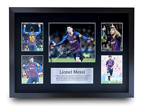 HWC Trading Lionel Messi A3 Enmarcado Regalo De Visualización