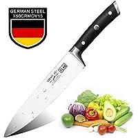 SHAN ZU Couteaux de Chef German Acier Inoxydable Couteaux de Cuisine