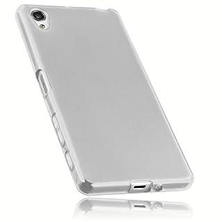 mumbi Schutzhülle für Sony Xperia X Hülle transparent weiss