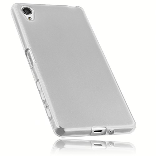 mumbi Hülle kompatibel mit Sony Xperia X Handy Case Handyhülle, transparent weiss