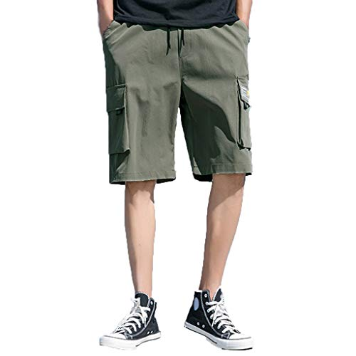 argo Shorts Sommer Neu Beschläge Shorts Komfortabel Kurze Hosen,Armeegrün,EU:XXS(Tag:S) ()