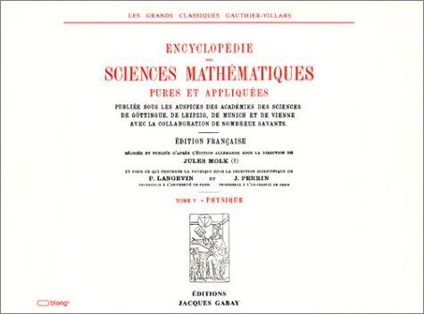 Encyclopédie des sciences mathématiques, tome V par Collectif