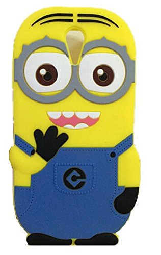 Heartly Cute Cartoon Minion Soft Rubber Silicone Flip Bumper Best Back Case Cover For HTC Desire 620 620G 820 Mini Dual Sim Double Eye