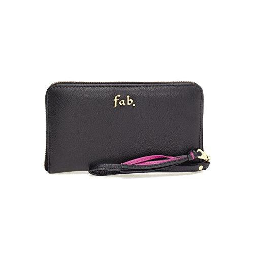 Fab by Fabienne - 3 letter logo purse, Borsa A Mano da Donna Beige(shark attack black)