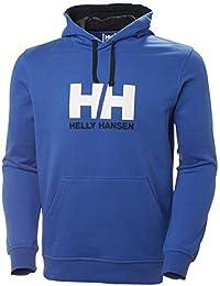 Helly Hansen Logo Hoodie Hombre con Capucha, Sudadera Casual de algodón para Uso Diario y Actividades al Aire Libre