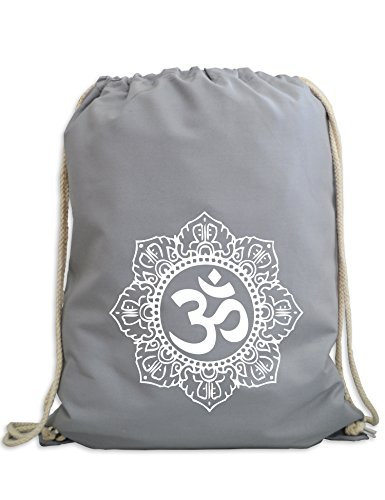 Turnbeutel: Om - Yoga Sport-Beutel - Gym-Bag - Tasche - Rucksack - Meditation Fitness Zen Hindusimus Indien Buddha Dharma Geschenk Chakra Soul - Streetwear Urban Hipster