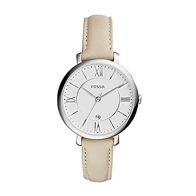 Fossil ES3793P - Reloj (Reloj de pulsera, Femenino, Acero inoxidable, Plata, Cuero, Beige) de FOX84