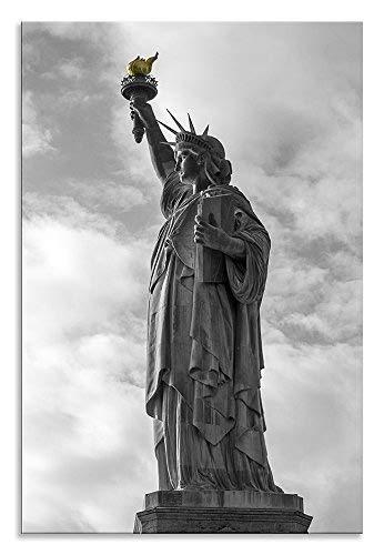 Freiheitsstatue Leinwand Schwarz Weiß NY Hochformat Art Wand Bild Home Decor Wohnzimmer Badezimmer Art Schlafzimmer Küche Bild Single Panel, Schwarz , 24