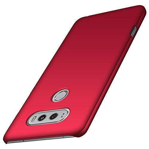 anccer LG V20 Hülle, [Serie Matte] Elastische Schockabsorption und Ultra Thin Design (Glattes Rot)