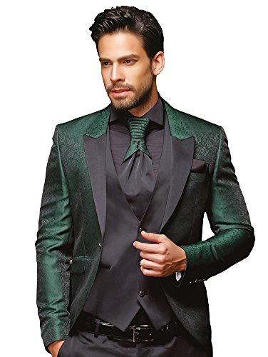 Herren Anzug - 8 teilig - Schwarz Grün Designer Hochzeitsanzug TOP ANGEBOT NEU PC_11 (44)