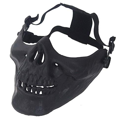 Skeleton Half Face Protective Mask for Halloween Party Airsoft Mask ()