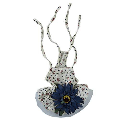 Yeucan Sunflower Daisy Pet Kleid Katze Hund Kleidung Prinzessin Puppy Dog Rock Pet Kleidung, Blaue Blume XL-Code, Größe - Daisy Blume Hund Kostüme