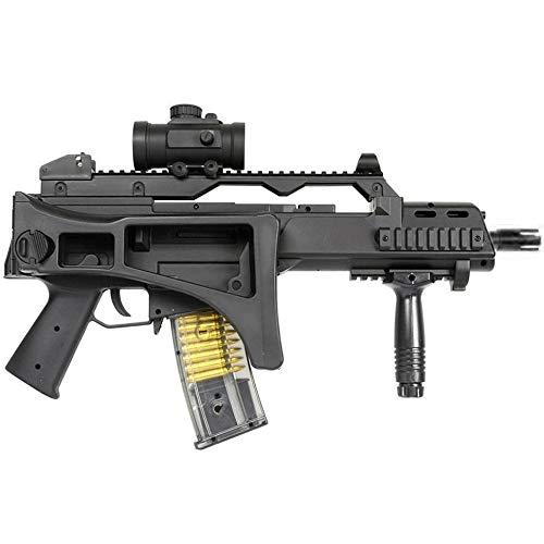 Double Eagle Airsoft-M85 Style G36c ABS/Couleur Noir/électrique (0.5 Joule)-Semi/Full Automatique-livré avec Accessoires