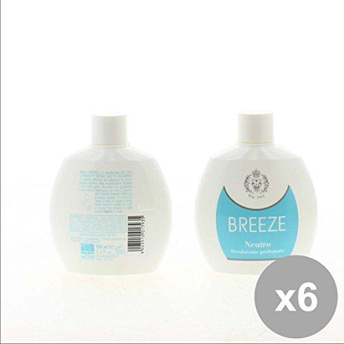 Set 6 BREEZE Deodorante Squeeze 100 Neutro - Cura del Corpo