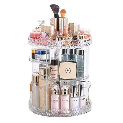 Organisateur de Maquillage Tournant 360 °, Grande Capacité de Stockage Cosmétique Acrylique Claire pour Le Maquillage Brosse le Rouge À Lèvres le Rouge À Lèvres
