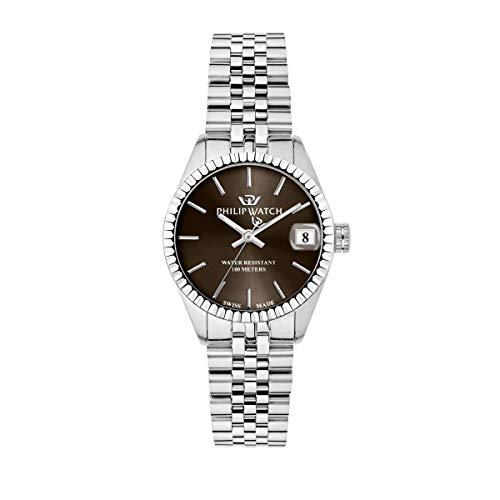 Philip Watch Orologio da donna, Collezione Caribe, funzione tempo e data, in acciaio - R8253597549