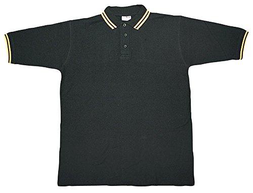 Bequemes McAllister Polo Shirt T-Shirt Herrenshirt Baumwolle Outdoor Shirt verschiedene Ausführungen Schwarz/Gelb