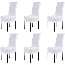 koobea 6 Coprisedie con Schienale Elasticizzato Universale Copri sedie Sala da Pranzo