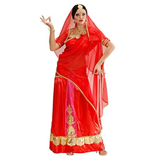 Kostüm Armreifen Indische - NET TOYS Damen Bollywood Kostüm Sari Damenkostüm M (38/40) Inderin Kleid Indische Kleider Orient