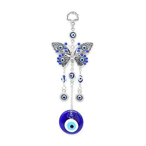 LanLan Hauptlegierung Schmetterlinge Blaue böse Augen Glaswanddekoration Türkische polierte hängende Dekoration