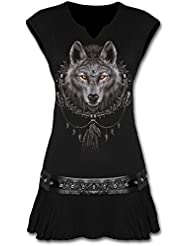 SPIRAL - Tunique DARK WEAR - Wolf Dreams - Noir