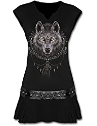 SPIRAL - Tunique DARK WEAR - Wolf Dreams - Noir