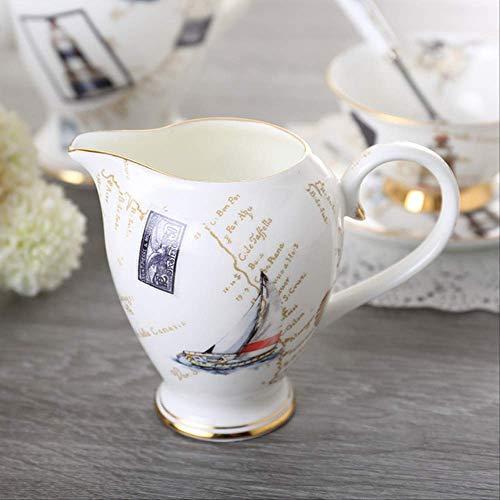 QYYDMKB Logbuch Bone China Kaffeeservice Britisches Porzellan Teeservice Keramiktopf Milchkännchen...