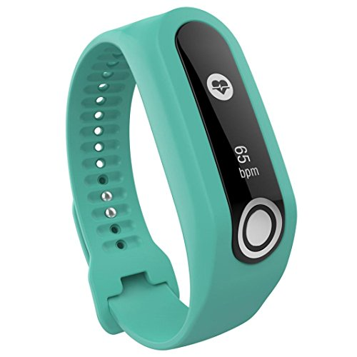 TomTom Touch Armband, SHOBDW Ersatz Silikon Band Strap für TomTom Touch Cardio Activity Tracker (Grün, 19cm-24cm)