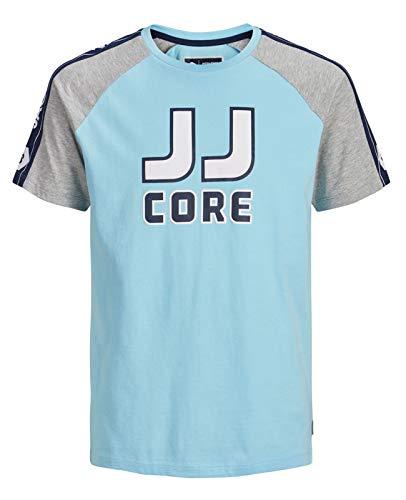 JACK & JONES Jcomaxit tee SS Crew Neck Camiseta, (Gulf Stream Fit: Slim), Medium para Hombre