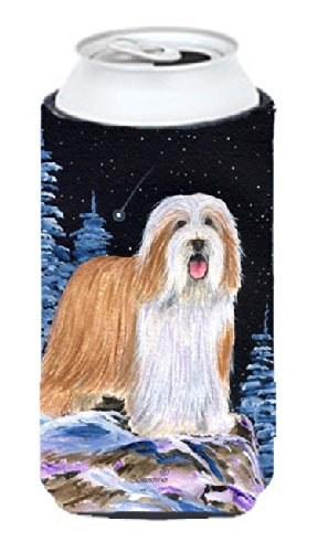 starry-night-bearded-collie-michelob-ultra-koozies-for-slim-cans-ss8451muk-tall-boy-multicolor