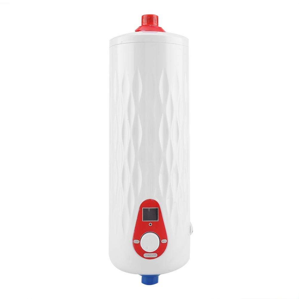 lavado 220 V Mini calentador de agua 6500 W Calentador de agua instant/áneo el/éctrico Sistema de agua caliente de la ducha sin tanque para ba/ño Cocina blanco