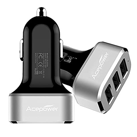 [Certified by Apple] ACEPower® Premium 3 USB 26W 5.1A Aluminum Panel Compact Designed USB Car (Dispositivi di alimentazione e batterie)