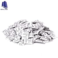 Royal Apex 1g Pkt Non-toxic Pure Silica Gel Desiccant Damp Dehumidifier Room Kitchen Clothes Food Storage Moisture Absorber Bags (50Pcs Pkt)
