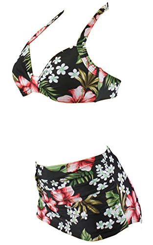 Aloha-Beachwear Damen Bikini A1026 Mehrfarbig Gr. 38 -