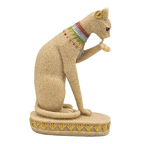 bowlder Aquarium Deko Katze Verzierungs Sandstein Ägyptische Harz Puppe für Aquarium Landschaftlich Gestaltet Inneneinrichtung Modelliert