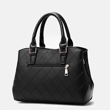 Damenmode Plaid PU Leder Schulter Messenger Bags/Handtasche Tote Clover