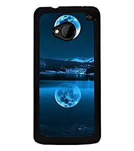 printtech Moon Light Water Nature Back Case Cover for HTC One M7::HTC M7