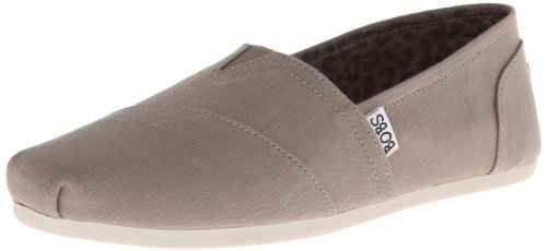 Skechers Bobs Damen Slipper Plush PeaceLove Beige  Taupe