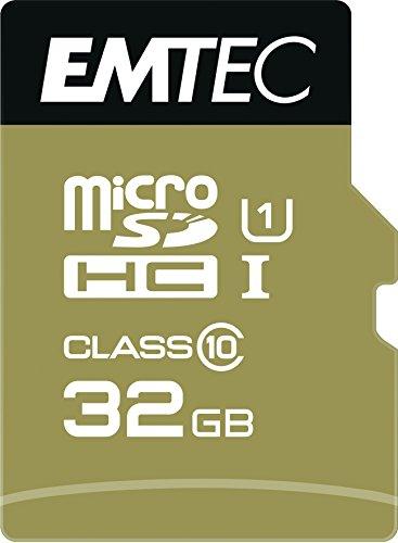 EMTEC Gold+ microSDHC 32 GB Bis zu 21MB/s Class10 Speicherkarte